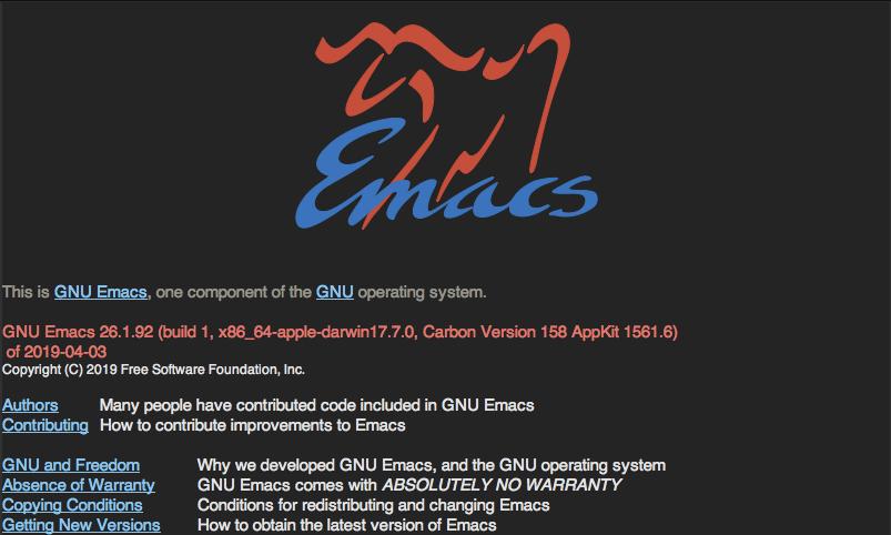 emacsの画面